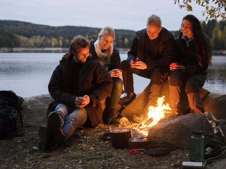 Lakeside bonfires