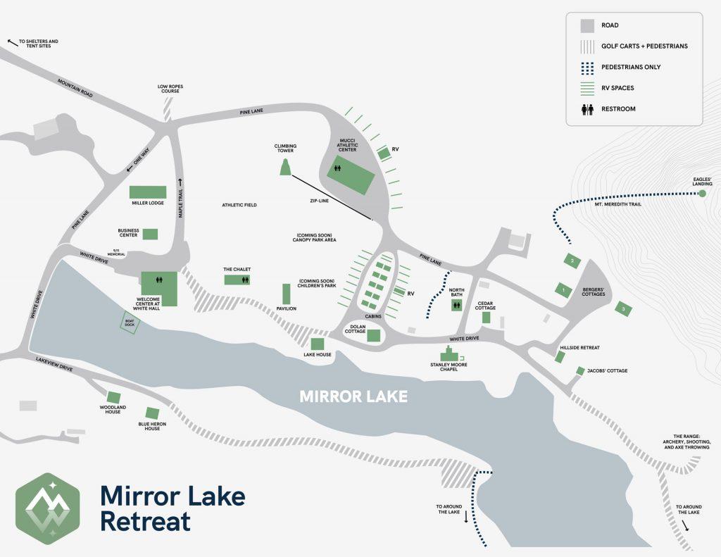 Mirror Lake Retreat Map