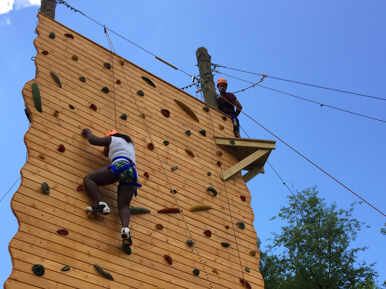 rock climing tower and vertical playpen